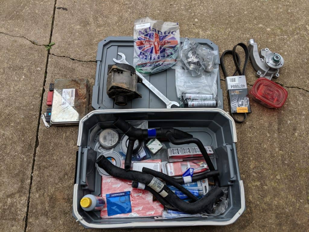 Land Rover Discovery Spare Parts Box